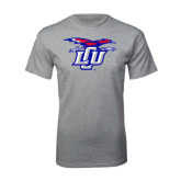 Grey T Shirt-Interlocking LCU w/ Chaparral