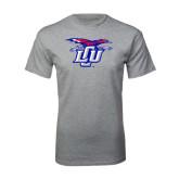 Grey T Shirt-Interlocking LCU w/ Chaparral Distressed