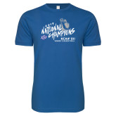 Next Level SoftStyle Royal T Shirt-2019 NCAA DII National Champions