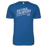 Next Level SoftStyle Royal T Shirt-2019 Womens Basketball National Champions