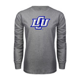 Grey Long Sleeve T Shirt-Interlocking LCU