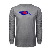 Grey Long Sleeve T Shirt-Chaparral Distressed