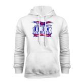White Fleece Hoodie-Lubbock Christian University - Offical Logo
