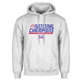 White Fleece Hoodie-2019 Womens Basketball NCAA DII National Champions