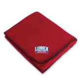 Red Arctic Fleece Blanket-Lubbock Christian University