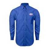 Mens Royal Oxford Long Sleeve Shirt-Lubbock Christian University