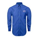 Mens Royal Oxford Long Sleeve Shirt-Interlocking LCU