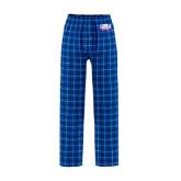 Royal/White Flannel Pajama Pant-Lubbock Christian University