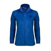 Ladies Fleece Full Zip Royal Jacket-Interlocking LCU w/ Chaparral