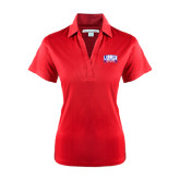 Ladies Red Performance Fine Jacquard Polo-Lubbock Christian University