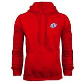 Red Fleece Hoodie-Interlocking LCU