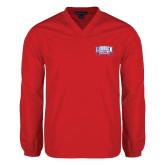 V Neck Red Raglan Windshirt-Lubbock Christian University