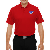 Under Armour Red Performance Polo-Interlocking LCU