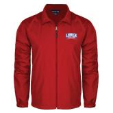 Full Zip Red Wind Jacket-Lubbock Christian University