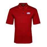 Red Performance Fine Jacquard Polo-Lubbock Christian University