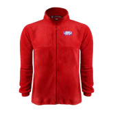 Fleece Full Zip Red Jacket-Lubbock Christian University