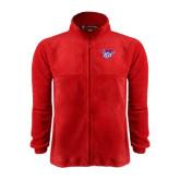 Fleece Full Zip Red Jacket-Interlocking LCU w/ Chaparral