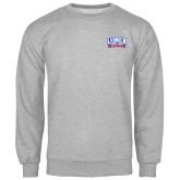 Grey Fleece Crew-Lubbock Christian University