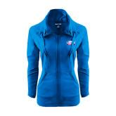 Ladies Sport Wick Stretch Full Zip Sapphire Jacket-Lubbock Christian University