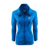 Ladies Sport Wick Stretch Full Zip Sapphire Jacket-Interlocking LCU