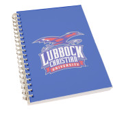 Clear 7 x 10 Spiral Journal Notebook-Lubbock Christian University - Offical Logo