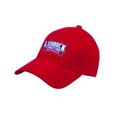Red Heavyweight Twill Pro Style Hat-Lubbock Christian University