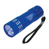 Industrial Triple LED Blue Flashlight-Interlocking LCU w/ Chaparral Engraved