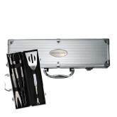 Grill Master 3pc BBQ Set-Lubbock Christian University Flat Engraved