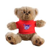 Plush Big Paw 8 1/2 inch Brown Bear w/Red Shirt-Interlocking LCU w/ Chaparral