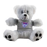 Plush Big Paw 8 1/2 inch White Bear w/Grey Shirt-Interlocking LCU w/ Chaparral