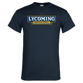 Navy T Shirt-Lycoming Basketball