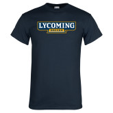 Navy T Shirt-Lycoming Soccer