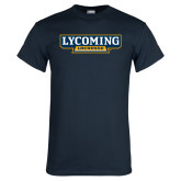 Navy T Shirt-Lycoming Lacrosse