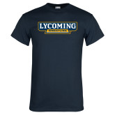 Navy T Shirt-Lycoming Wrestling