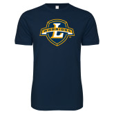 Next Level SoftStyle Navy T Shirt-L Warriors