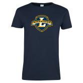 Ladies Navy T Shirt-L Warriors