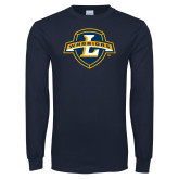 Navy Long Sleeve T Shirt-L Warriors
