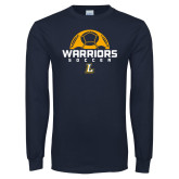 Navy Long Sleeve T Shirt-Warriors Soccer