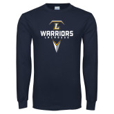 Navy Long Sleeve T Shirt-Warriors Lacrosse
