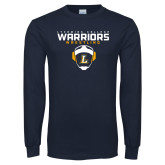 Navy Long Sleeve T Shirt-Warriors Wrestling