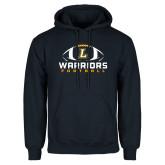 Navy Fleece Hoodie-Warriors Football