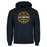 Navy Fleece Hoodie-Warriors Basketball