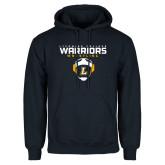 Navy Fleece Hoodie-Warriors Wrestling