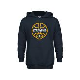 Youth Navy Fleece Hoodie-Warriors Basketball