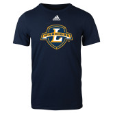 Adidas Navy Logo T Shirt-L Warriors