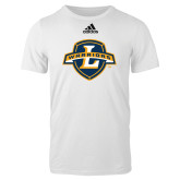 Adidas White Logo T Shirt-L Warriors
