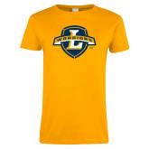 Ladies Gold T Shirt-L Warriors