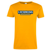 Ladies Gold T Shirt-Lycoming Warriors