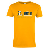 Ladies Gold T Shirt-Class of Design, Personalized year