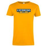 Ladies Gold T Shirt-Lycoming Mom